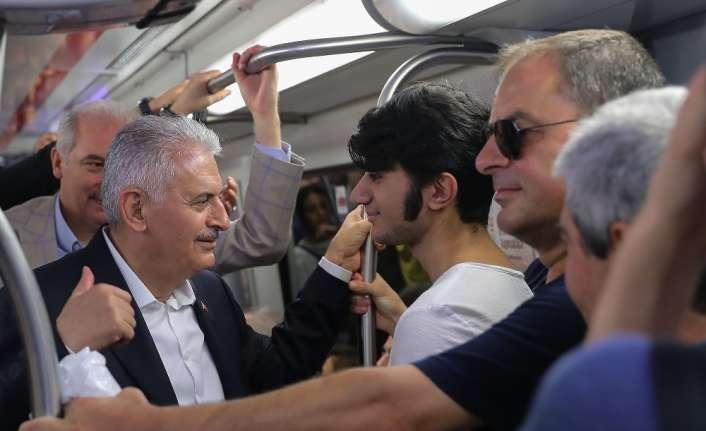 Başbakan Marmaray'da