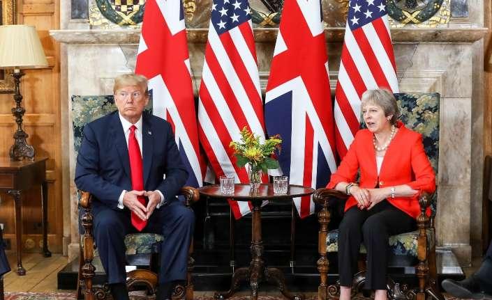 Trump İngiltere Başbakanı May ile görüştü