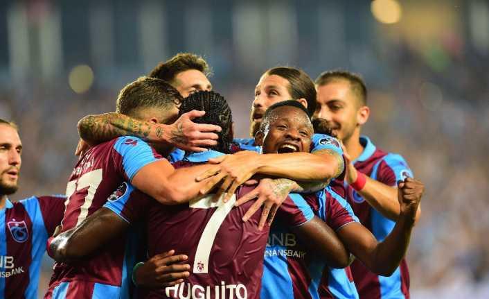 İlk yarı Trabzonspor'un üstünlüğüyle bitti