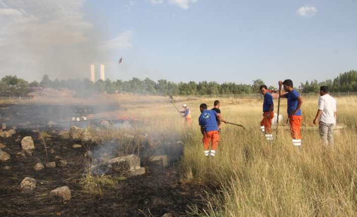 Tarihi mezarlık yangınına polis TOMA ile müdahale etti