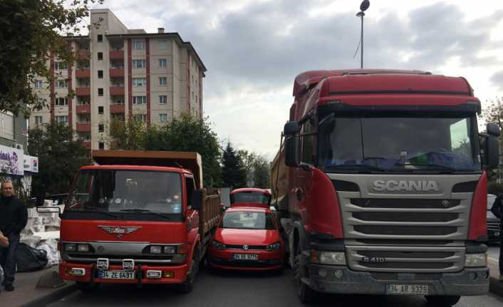 Beşiktaş'ta bir garip kaza