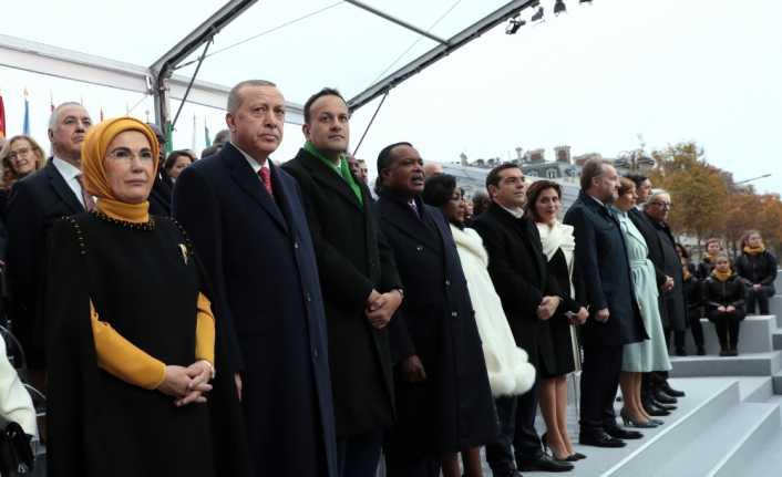 Cumhurbaşkanı Erdoğan Paris'teki törenlere katıldı