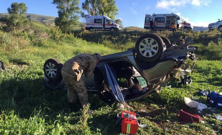 Refahiye'de kaza 1 ölü 4 kişi yaralı