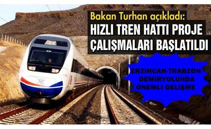 Erzincan-Trabzon Demiryolunda Önemli Gelişme