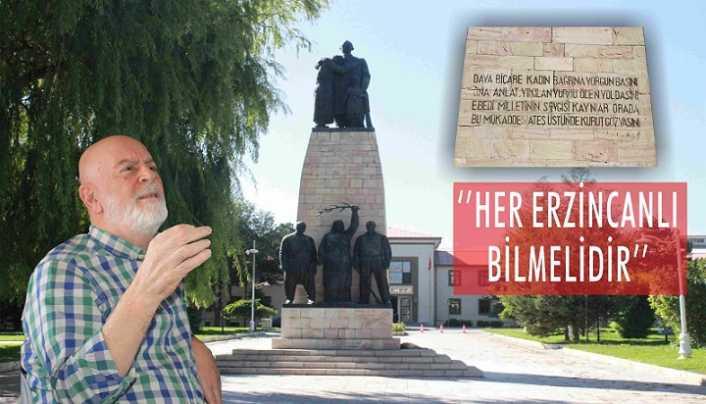 İnönü heykelinin tarihini Erzincanlılar bilmeli