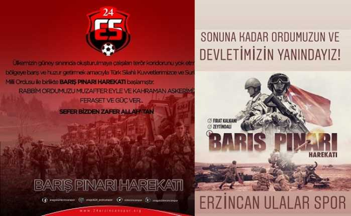 """Spor camiasından """"Barış Pınarı Harekatı""""na tam destek"""