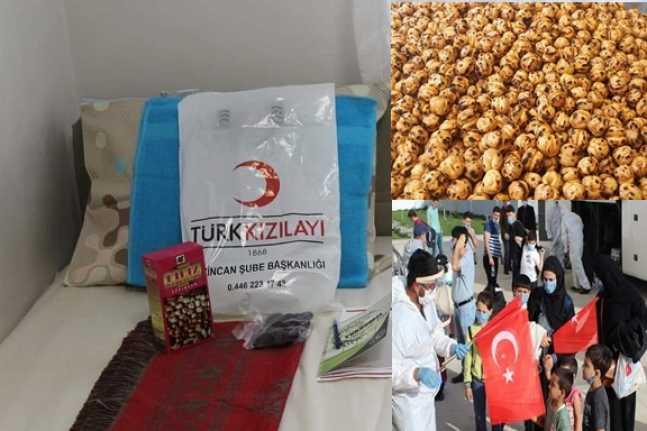 Arabistan'dan gelenlere Erzincan leblebisi ikram edildi