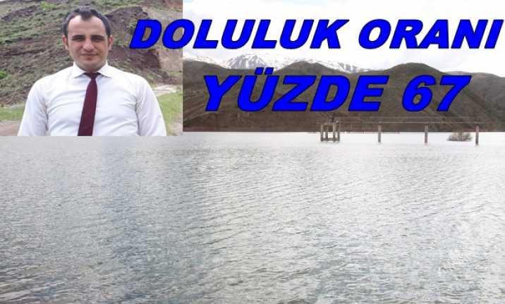 Erzincan Barajının Yüzde 67'si Dolu