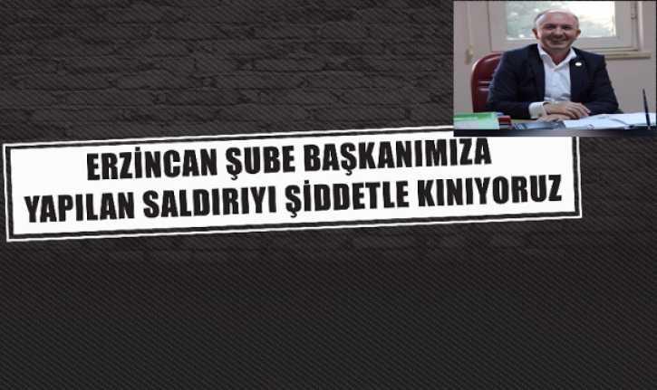 Erzincan'da Sendika Başkanına Çirkin Saldırı