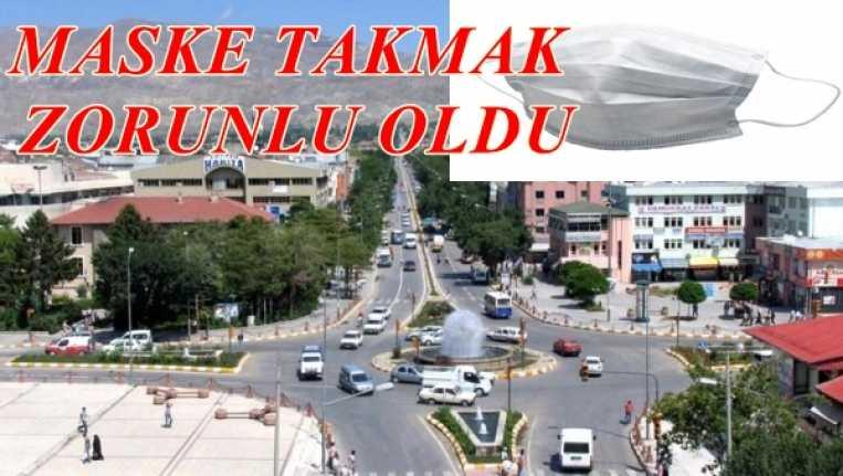 Erzincan'da maske takmak zorunlu oldu