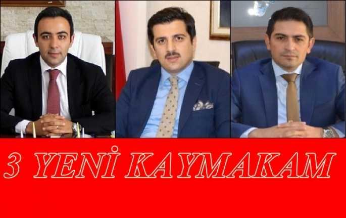 Erzincan'da 3 İlçenin Kaymakamı Değişti