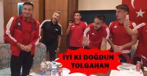 Kaleci Tolgahan Özdemir'e doğum günü sürprizi