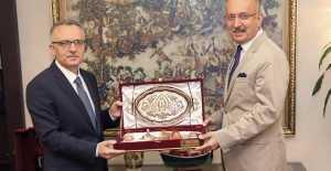 Rektör Levent, Ağbal'ı Ziyaret Etti
