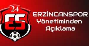 Erzincanspor  Yönetiminden açıklama