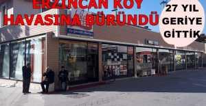 Prefabrik yapılarla Erzincan köy havasına büründü
