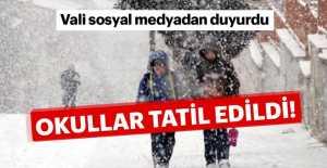 Öğrencilere kar tatili geldi