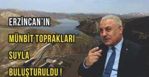 Erzincan#039;da mümbit topraklar suya doyuyor