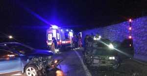 Ulalarspor yöneticileri kaza yaptı