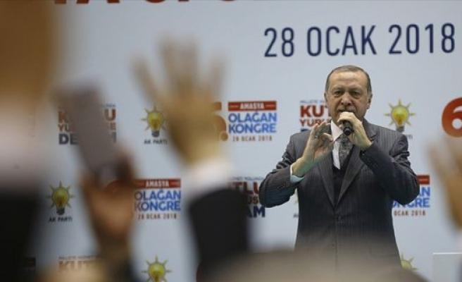 Cumhurbaşkanı Erdoğan: Kahraman askerlerimiz Afrin'de destan yazıyor