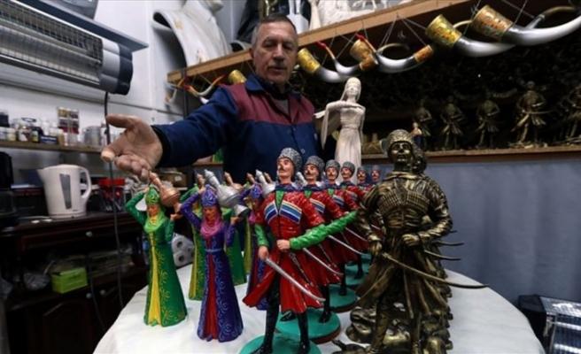 Çerkez kültürünü heykellerle geleceğe taşıyor