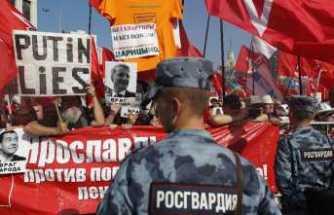 """Rusya'da """"emeklilik yaşı' protestosu"""
