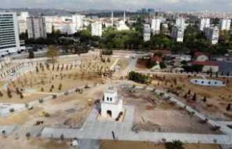 """Baruthane'deki """"Millet Parkı"""" çalışmaları havadan görüntülendi"""