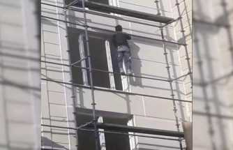 İnşaat işçisinin ölümle dansı