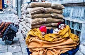 Belçika'da Göçmenlik Bürosu önünde insanlık dramı