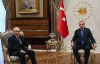 Erdoğan Bahçeli'yle görüştü