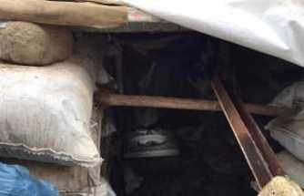 Teröristlerin 3 odalı sığınağı imha edildi