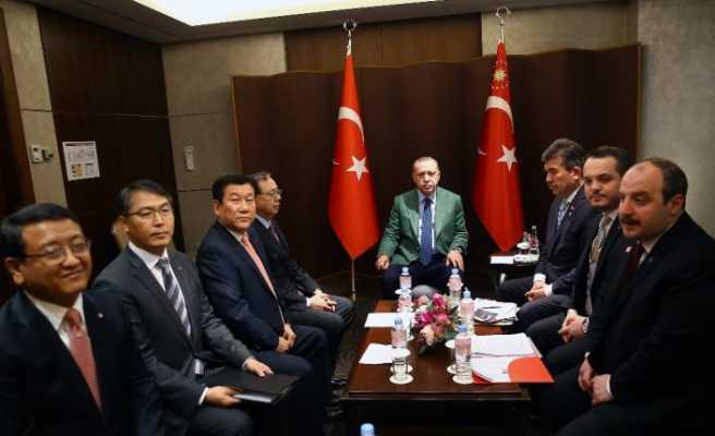 Erdoğan, LG firması yöneticilerini kabul etti