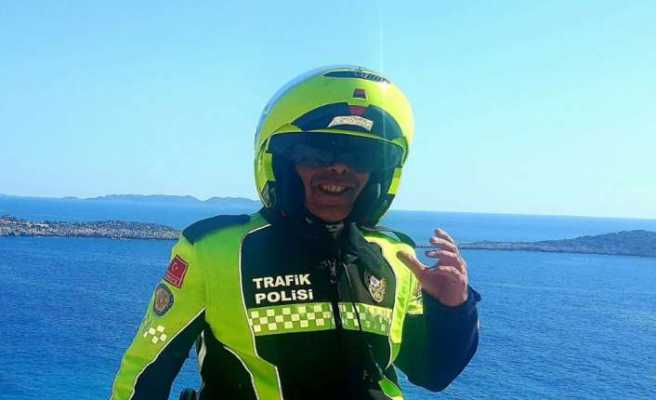 Kalbine demir saplanan trafik polisi hayatını kaybetti