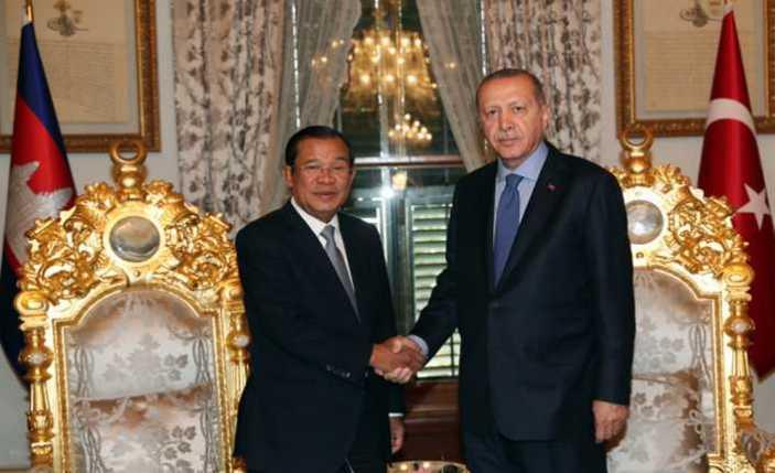 Erdoğan Kamboçya Başbakanını kabul etti