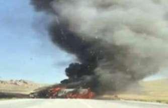 PKK'lı teröristler 4 aracı ateşe verdi